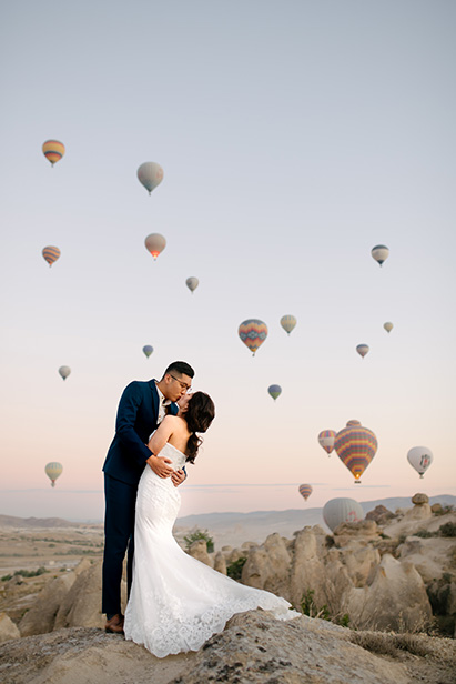 Cappadocia Pre-Wedding Hot Air Balloon